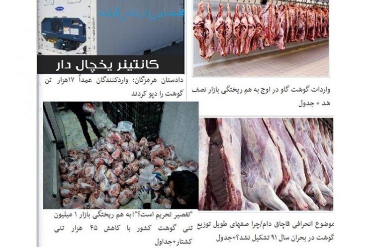 بخشنامه جدید گمرکی بانک مرکزی/دریافت ما به التفاوت 4800 تومانی از گوشتهای وارداتی در گمرکمانده+سند