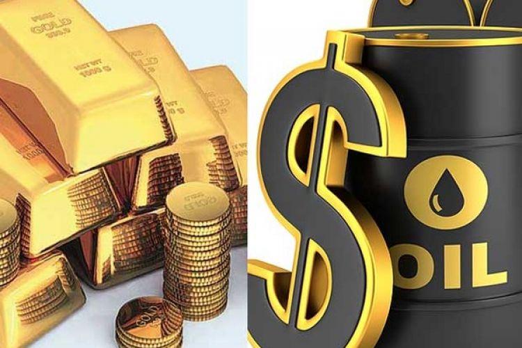 کاهش قیمت طلا و افزایش قیمت نفت در بازارهای جهانی