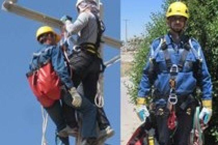 استفاده از تجهیزات جدید نجات از ارتفاع در شبکه توزیع برق