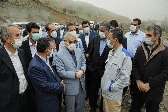 نوبخت، فتاح و اسلامی از قطعه 2 آزادراه تهران-شمال بازدید کردند