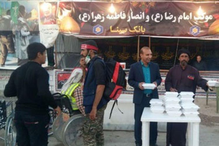 خدمات شبانه روزی بانک سینا برای زائران حسینی