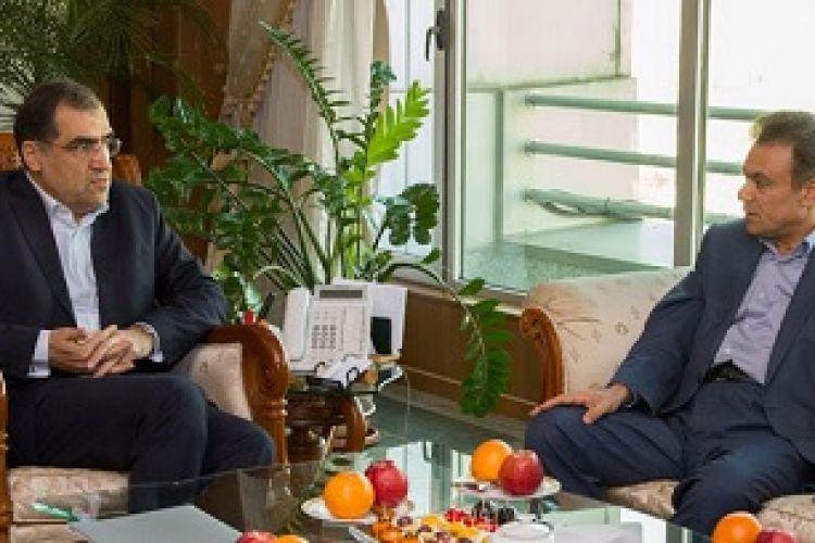 دیدار مدیرعامل بانک ملت و وزیر بهداشت