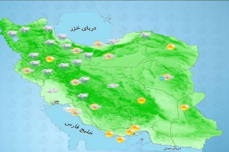 بارش برف و باران در برخی مناطق کشور/ آسمان تهران بارانی است+ جدول
