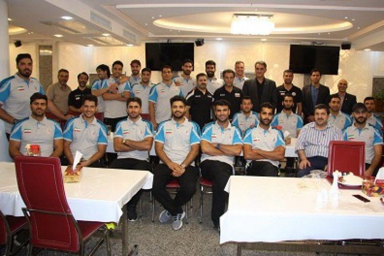 دیدار تیم ملی هندبال کشور با مدیرعامل سداد