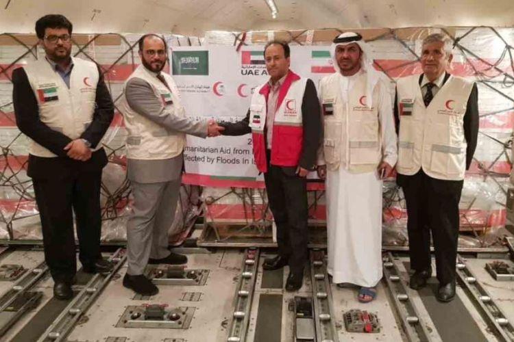 امارات و عربستان 95 تن کمکهای بشردوستانه برای سیلزدگان ایرانی ارسال کردند